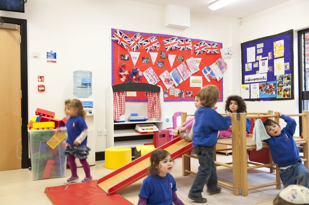 Children playing in the Ganim Nursery & pre-school in the Bushey United Synagogue premises